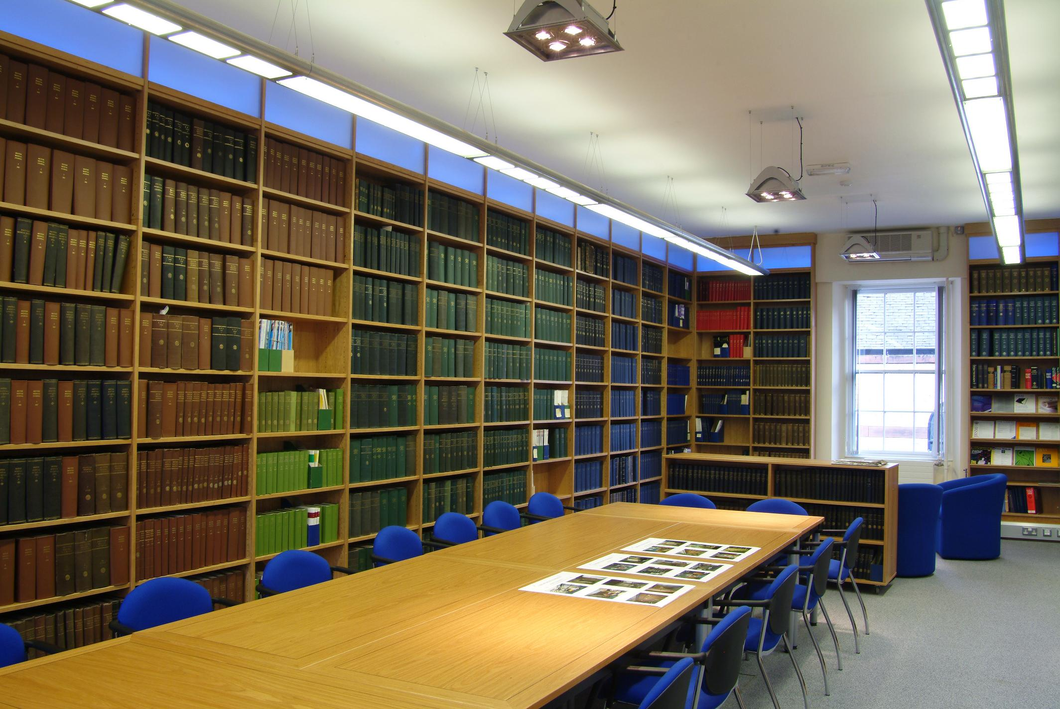 Royal College of Physicians and Surgeons of Glasgow library reading room