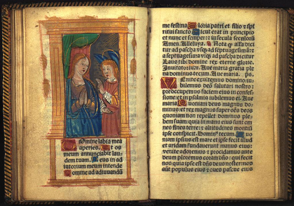 Heures a l'usaige de Rome tout au Long sans riens requerir (ca 1516)