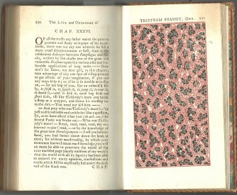 Marbled page featured in 'The Life and Opinions of Tristram Shandy, Gentleman'