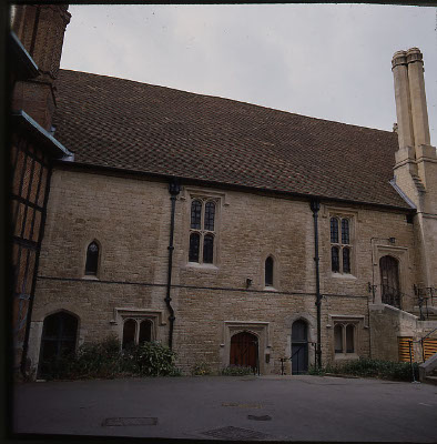 Photo of Vicars' Hall with entrance to Undercroft