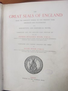 Title page of Alfred Wyon's 'Great Seals of England'